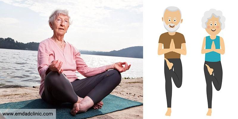 یوگا و پیشگیری از سقوط سالمندان
