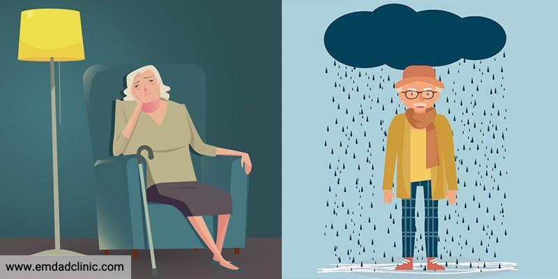 آشنایی با دلایل و علائم افسردگی در سالمندان