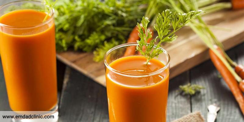 فواید آب هویج و اثرآن بر جسم و بدن